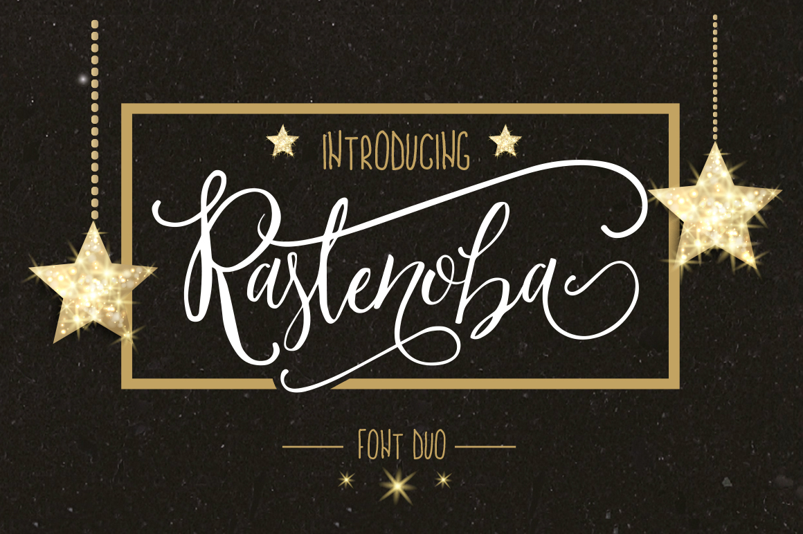 Print on Demand: Rastenoba Script Script & Handwritten Font By Maroon Baboon
