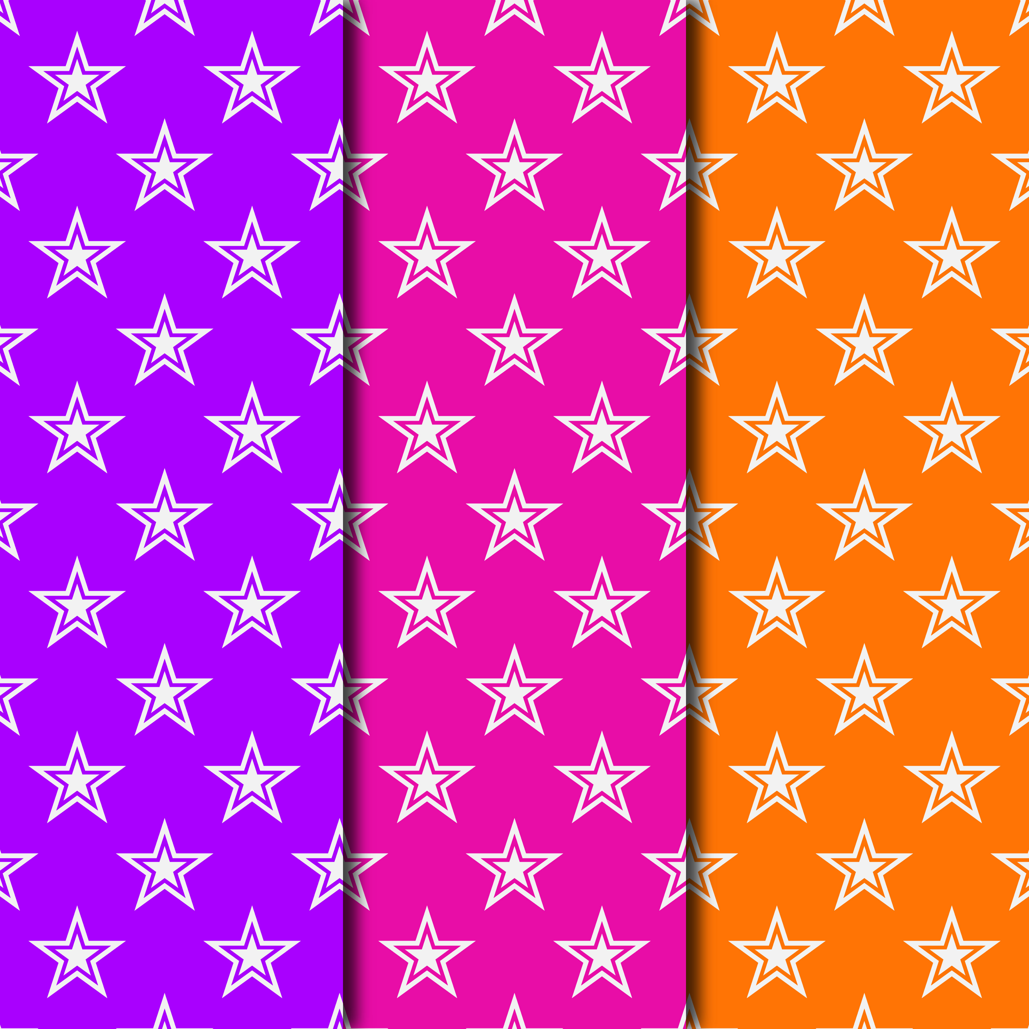Download Free Retro 1980 S Star Pattern Digital Paper Collection Graphic By for Cricut Explore, Silhouette and other cutting machines.