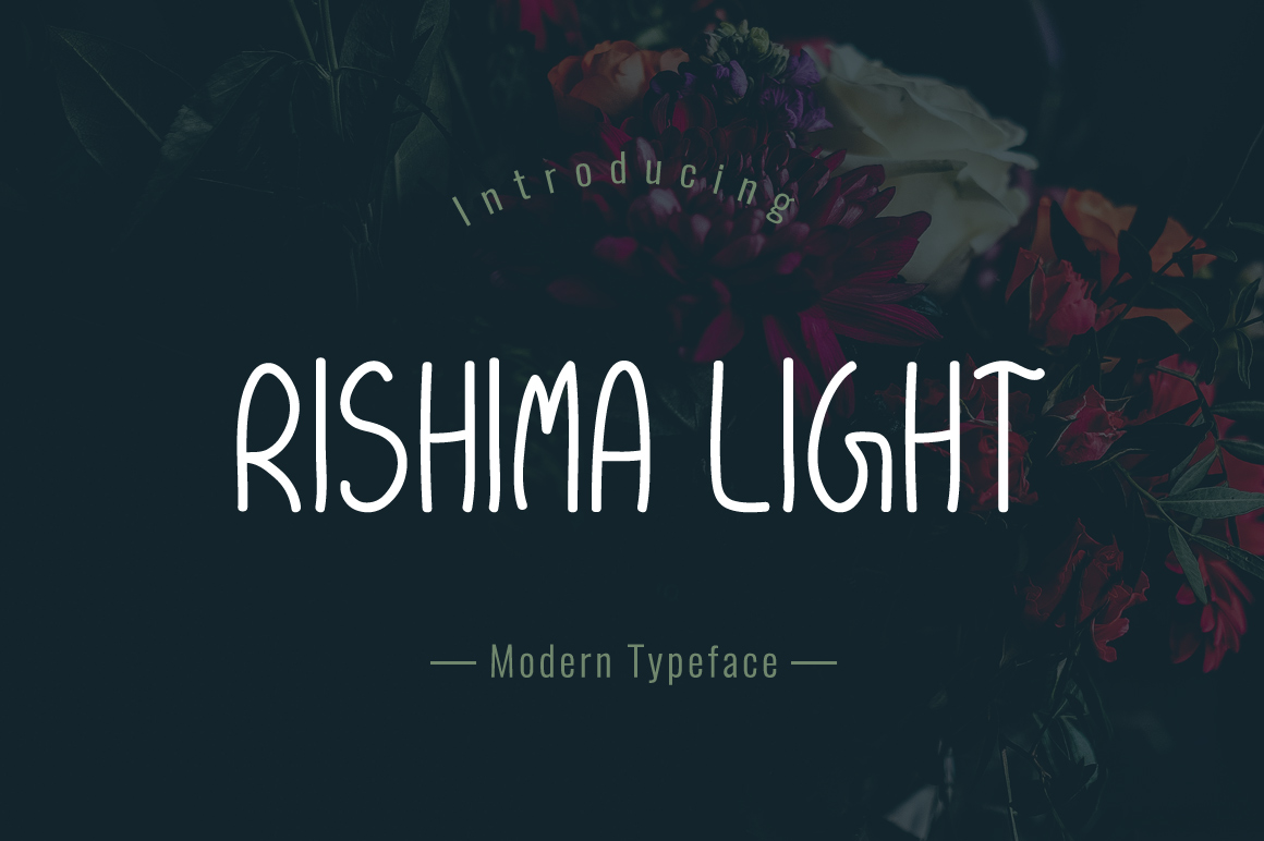 Print on Demand: Rishima Light Script & Handwritten Font By Contour Fonts