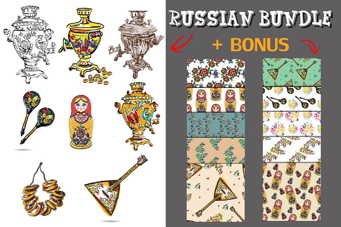 Russian Vector Set Graphic By alisared87