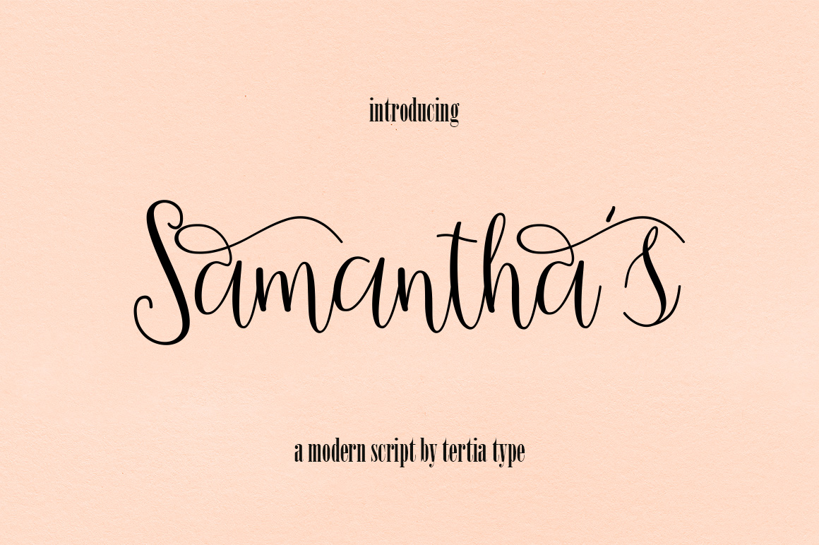 Print on Demand: Samantha 's Script Script & Handwritten Font By akrtype