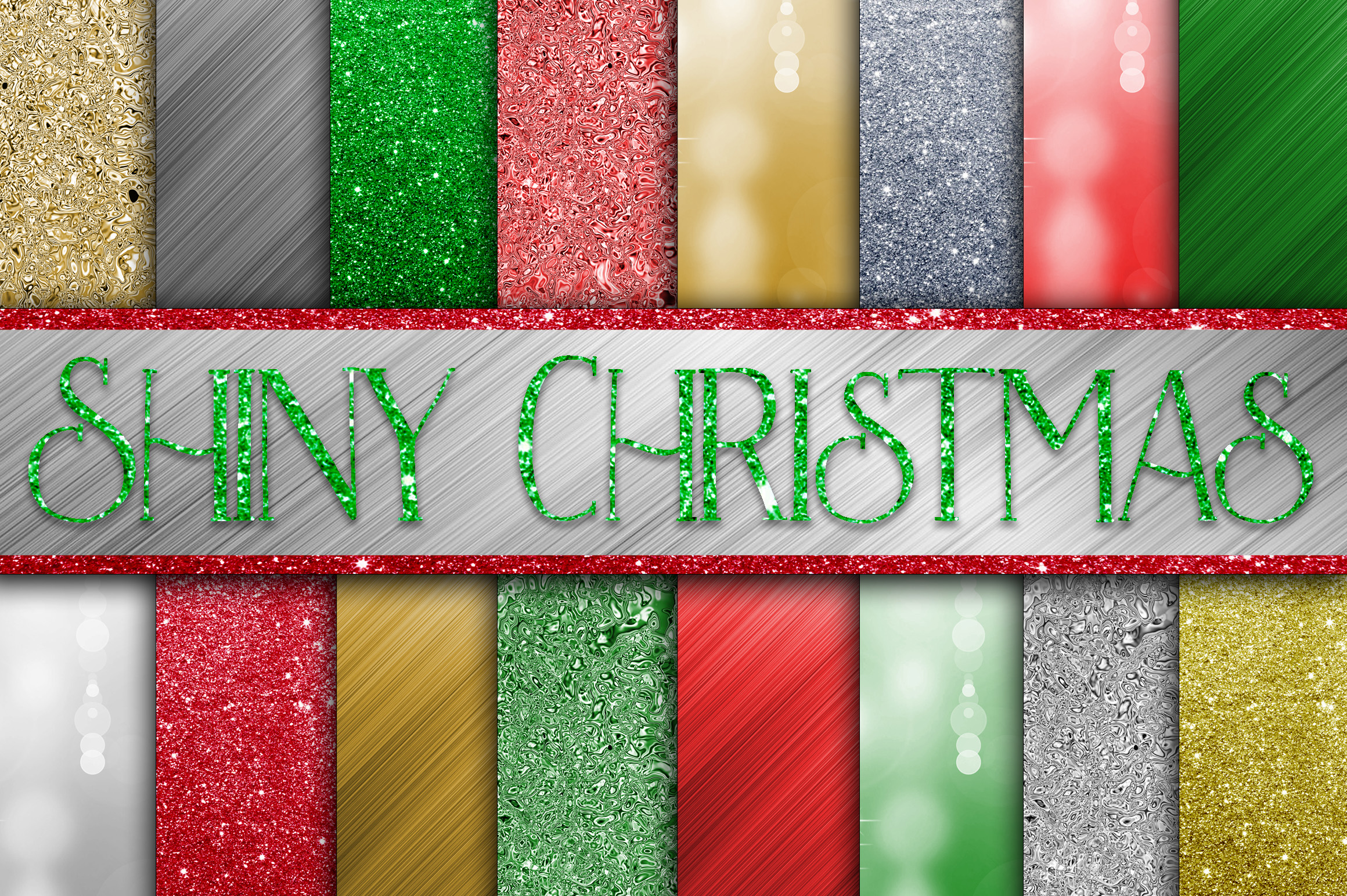 Shiny Christmas Digital Paper Graphic Backgrounds By oldmarketdesigns