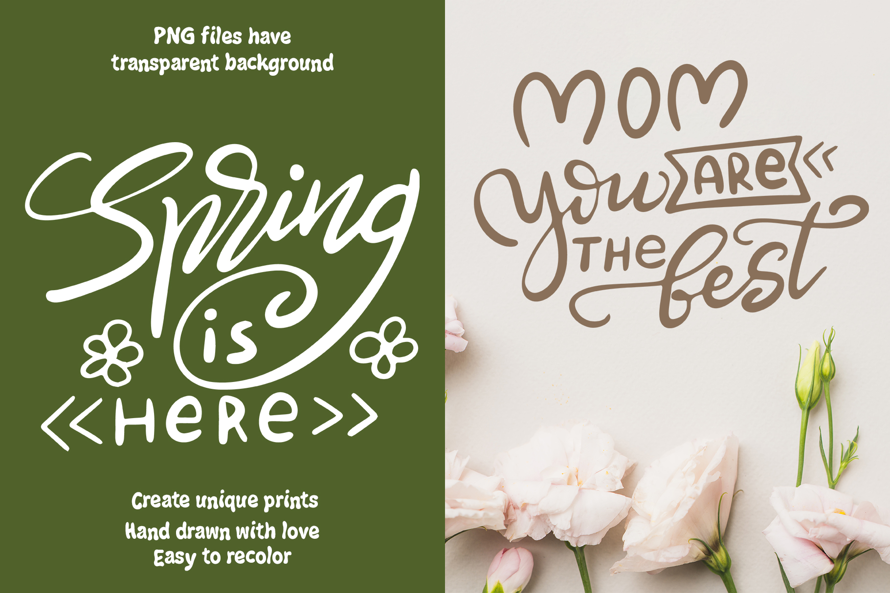 Spring Kit: Lettering and Clipart Graphic Illustrations By tregubova.jul - Image 4