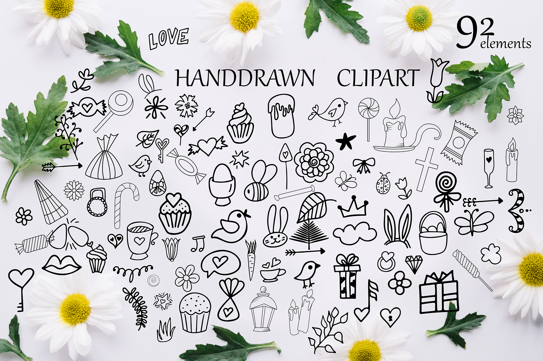 Spring Kit: Lettering and Clipart Graphic Illustrations By tregubova.jul - Image 7