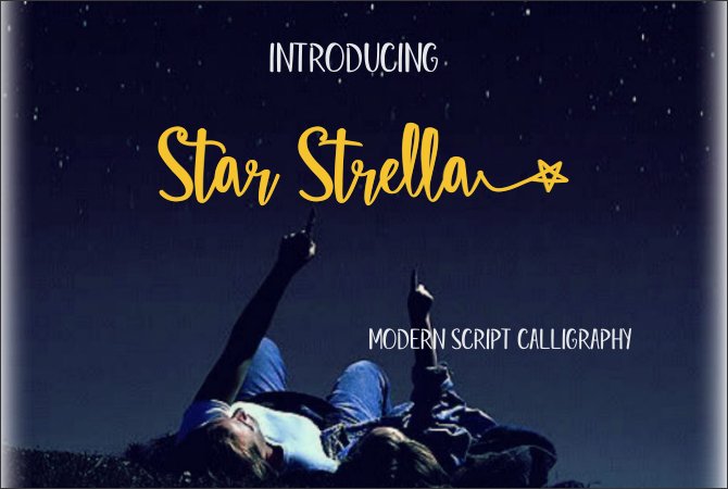 Print on Demand: Star Strella Script & Handwritten Font By Jaime Rangel Castro