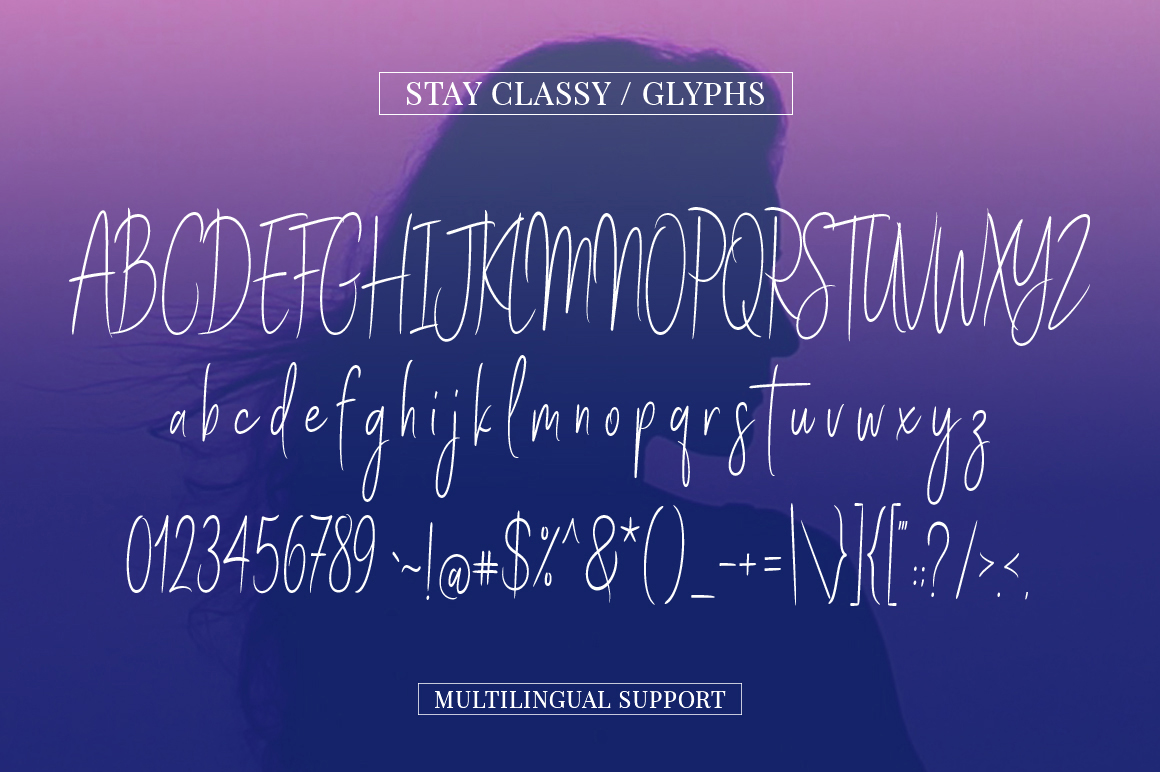 Print on Demand: Stay Classy Script & Handwritten Font By Solidtype - Image 4