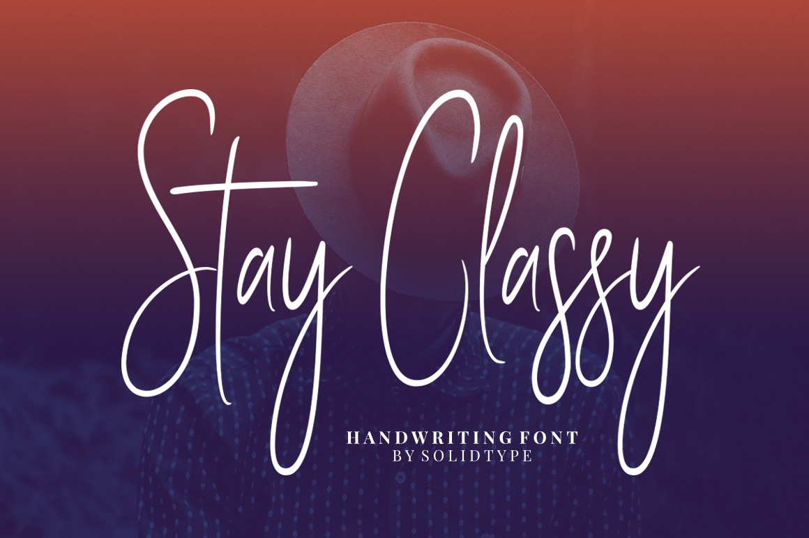 Print on Demand: Stay Classy Manuscrita Fuente Por Solidtype