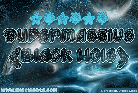 Print on Demand: Supermassive Black Hole Display Font By Misti