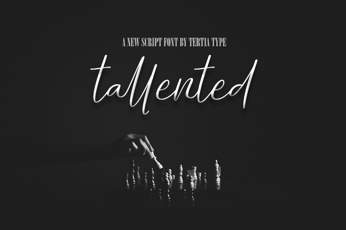 Print on Demand: Tallented Script & Handwritten Font By akrtype