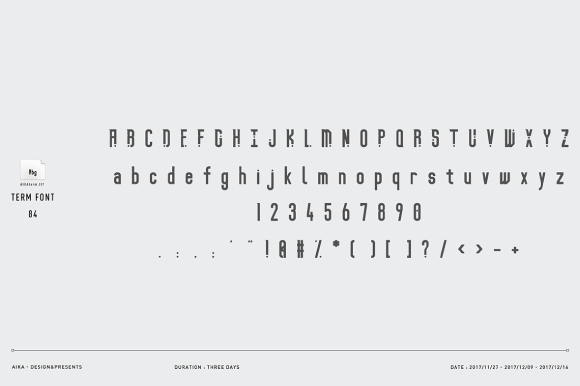 Print on Demand: Term Free Font Font By Creative Fabrica Freebies - Image 9
