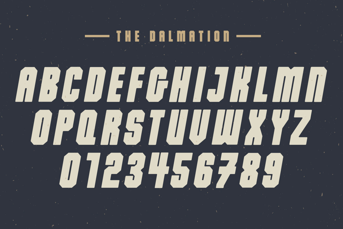 Print on Demand: The Dalmation Display Font By Factory738 - Image 6