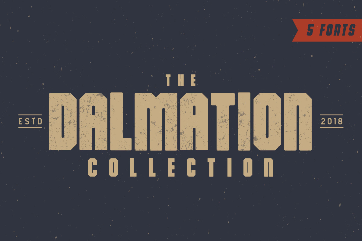 Print on Demand: The Dalmation Display Font By Factory738