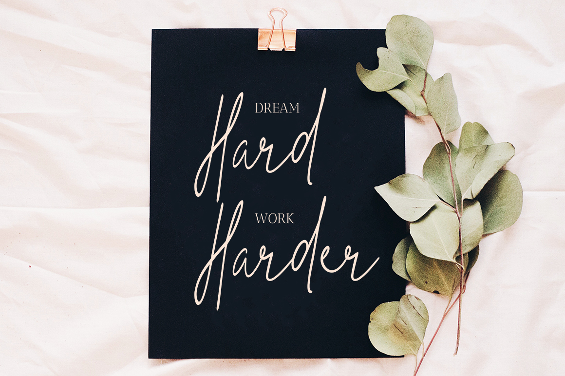 Print on Demand: The Hand Style Script & Handwritten Font By No Gravity Type - Image 4