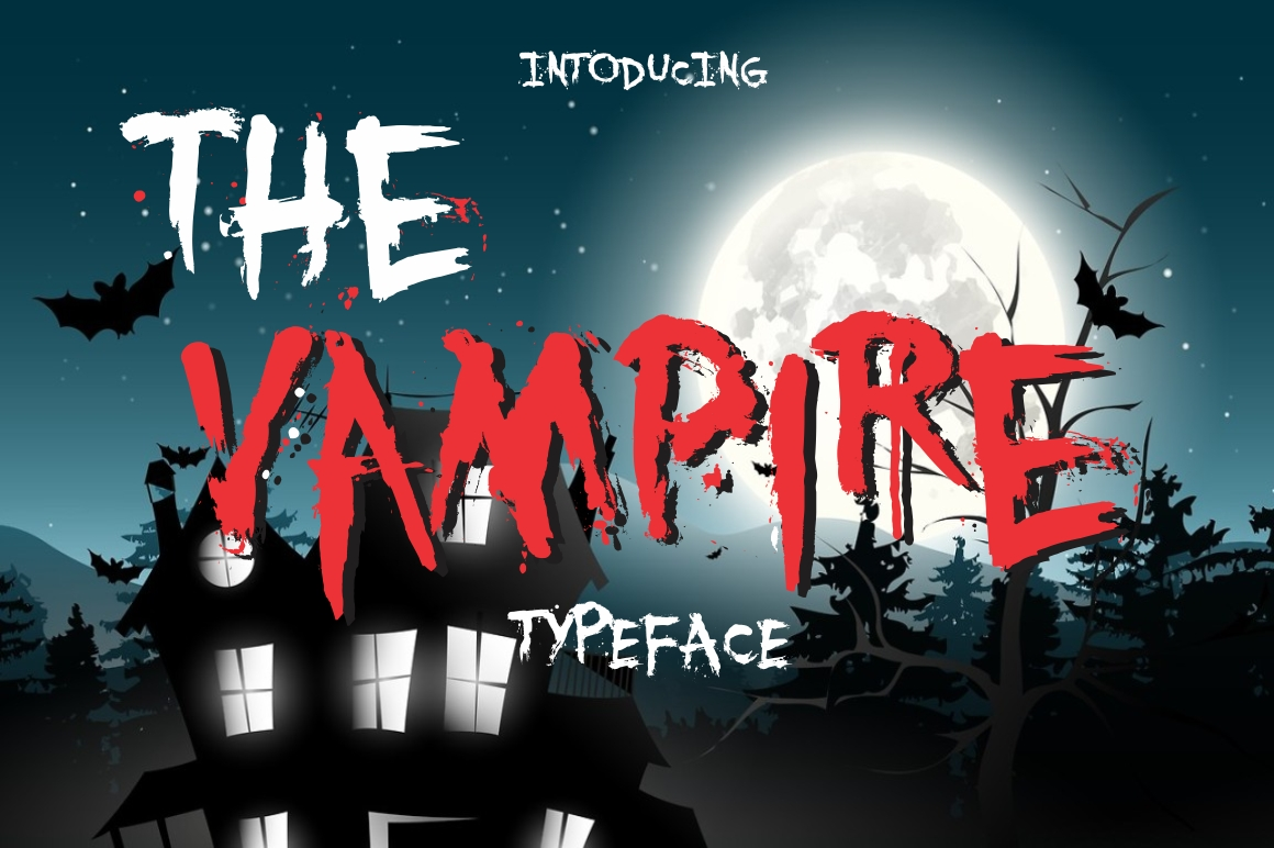 Print on Demand: The Vampire Display Font By screen letter