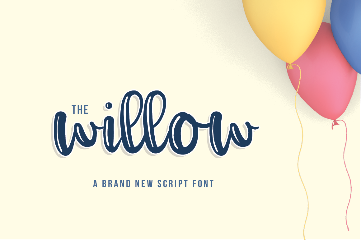 Print on Demand: The Willow Script Script & Handwritten Font By Maroon Baboon
