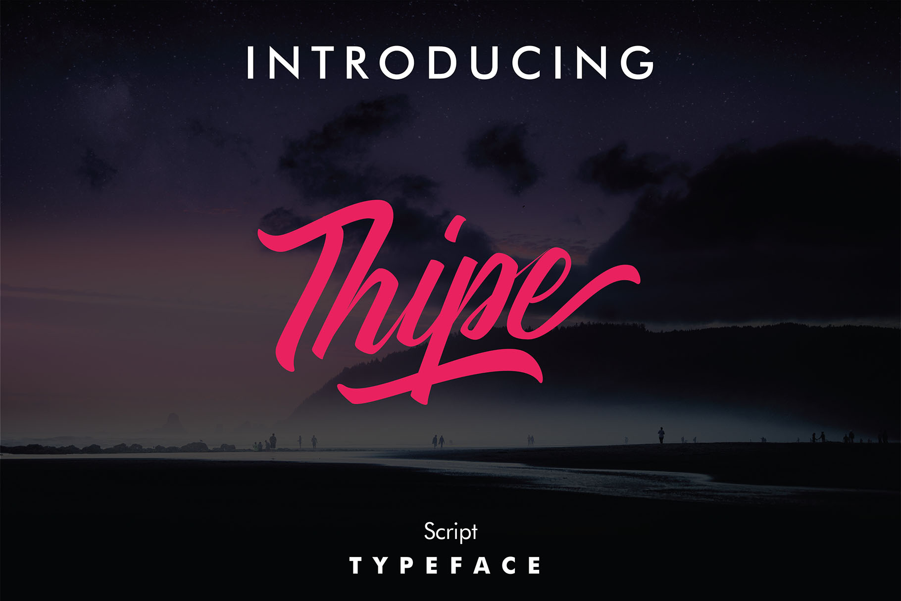 Print on Demand: Thipe Script & Handwritten Font By youthlabs