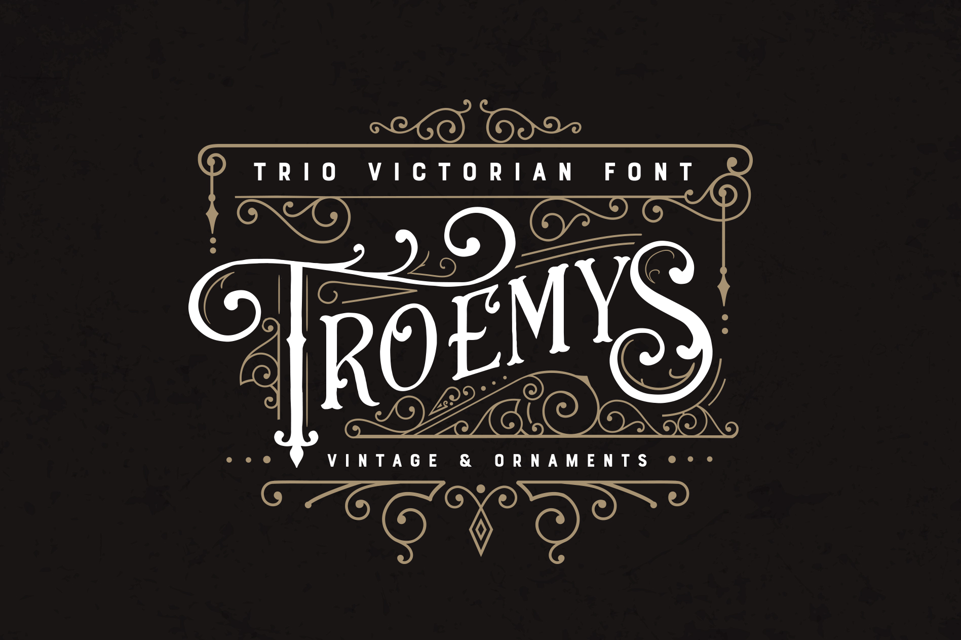 Print on Demand: Troemys Font Trio Display Font By BlackCatsMedia