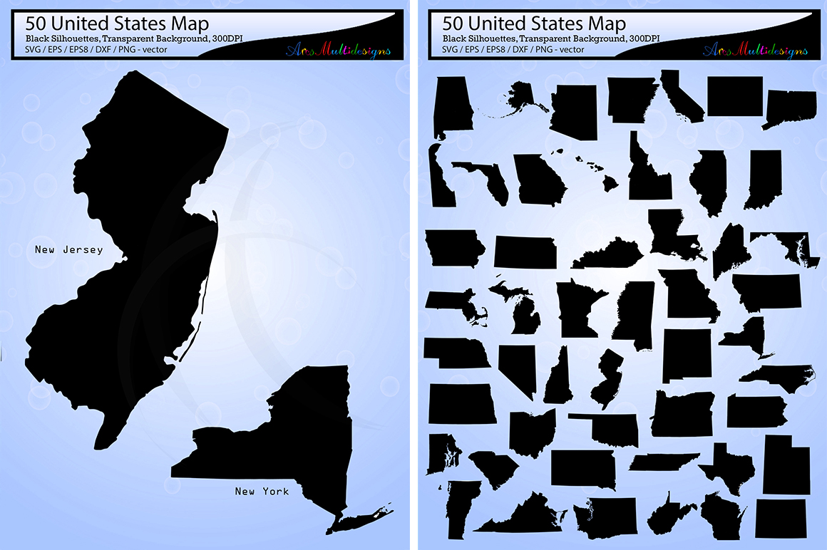 Download Free Usa Map Silhouette Svg Graphic By Arcs Multidesigns Creative for Cricut Explore, Silhouette and other cutting machines.