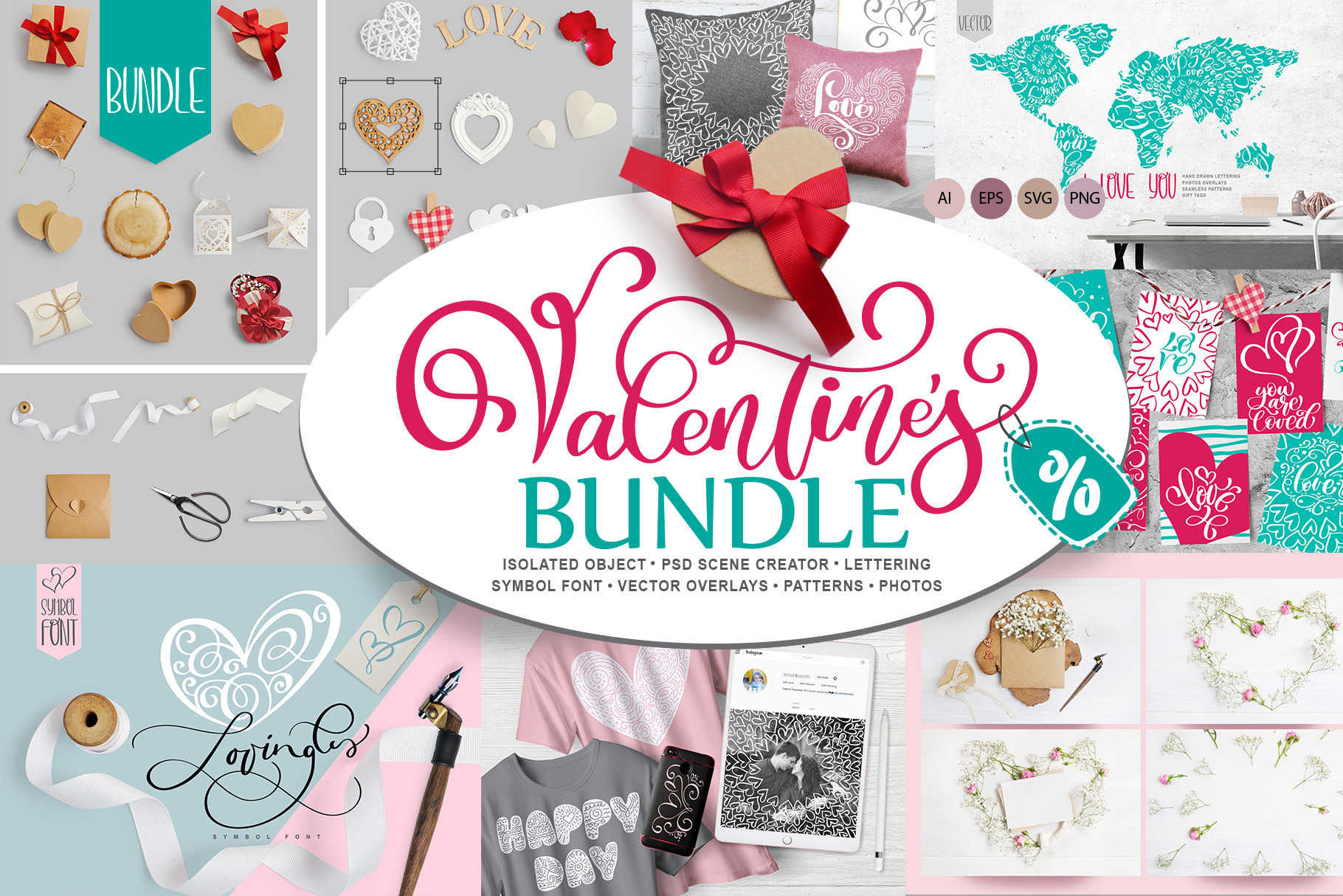 Valentine Bundle Graphic By Happy Letters