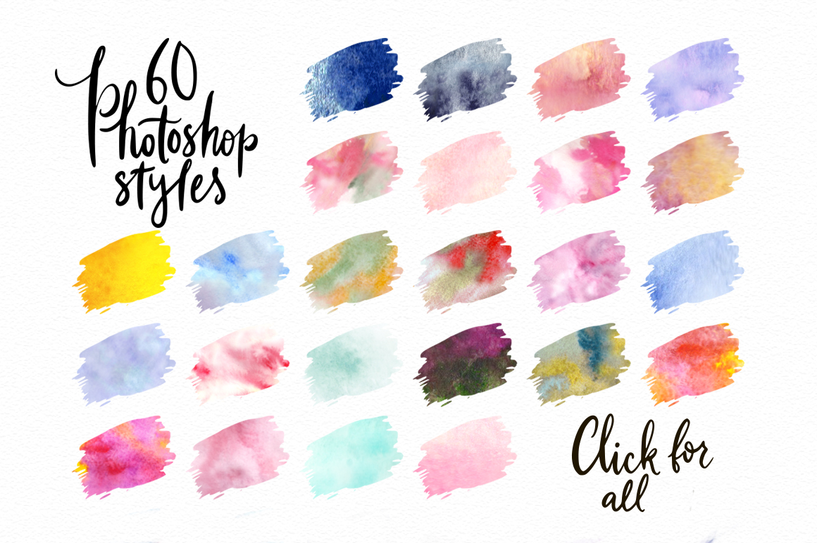 Print on Demand: Watercolor World - Photoshop Styles & Brushes Graphic Layer Styles By Red Ink - Image 2