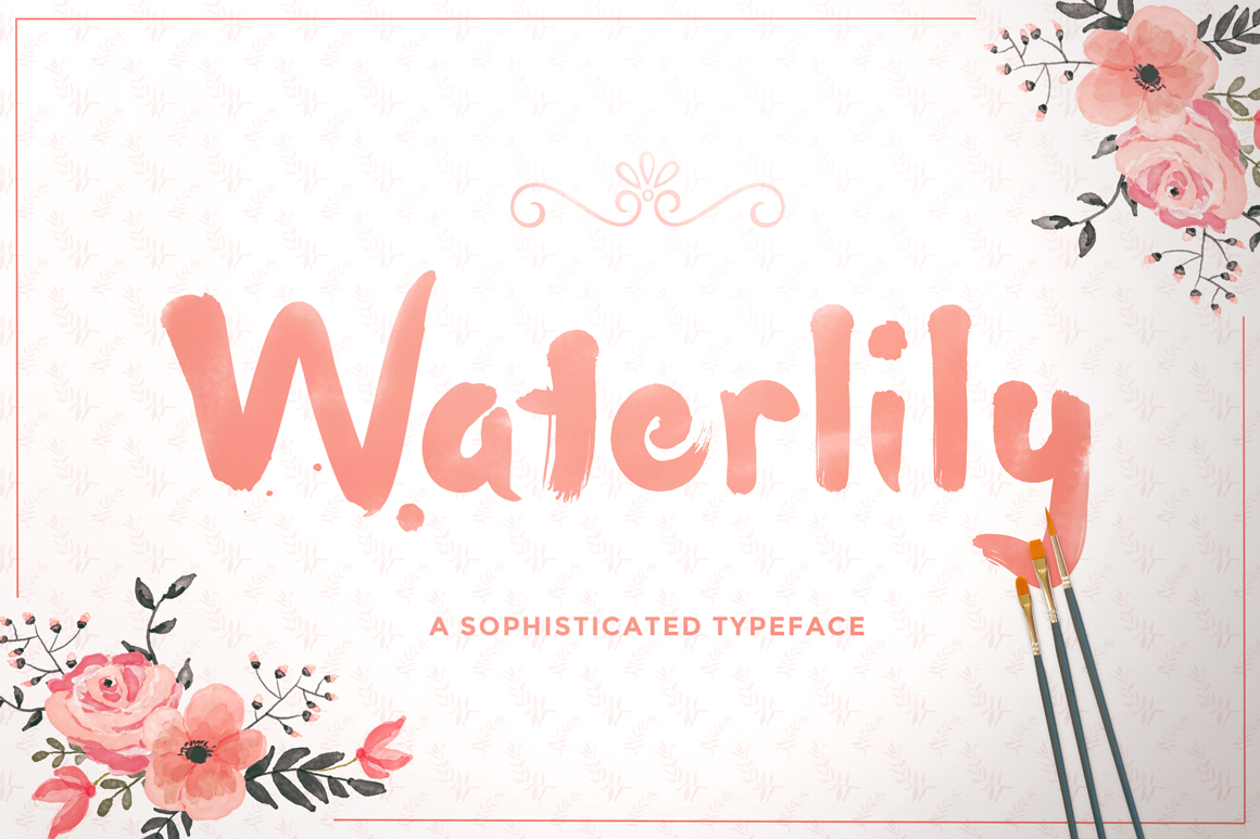 Print on Demand: Waterlily Display Font By Maroon Baboon