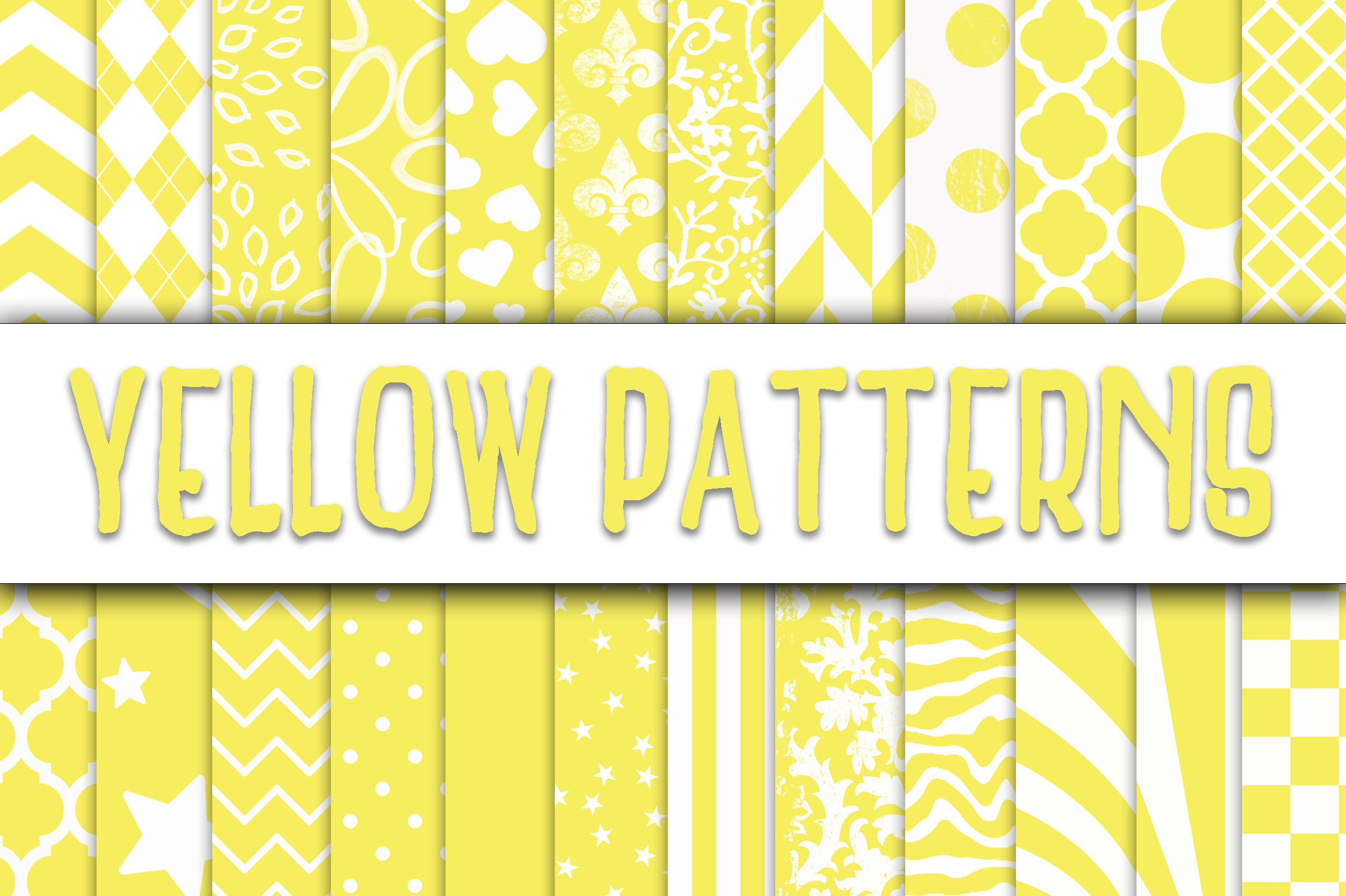 Download Free Yellow Patterns Digital Paper Graphic By Oldmarketdesigns for Cricut Explore, Silhouette and other cutting machines.