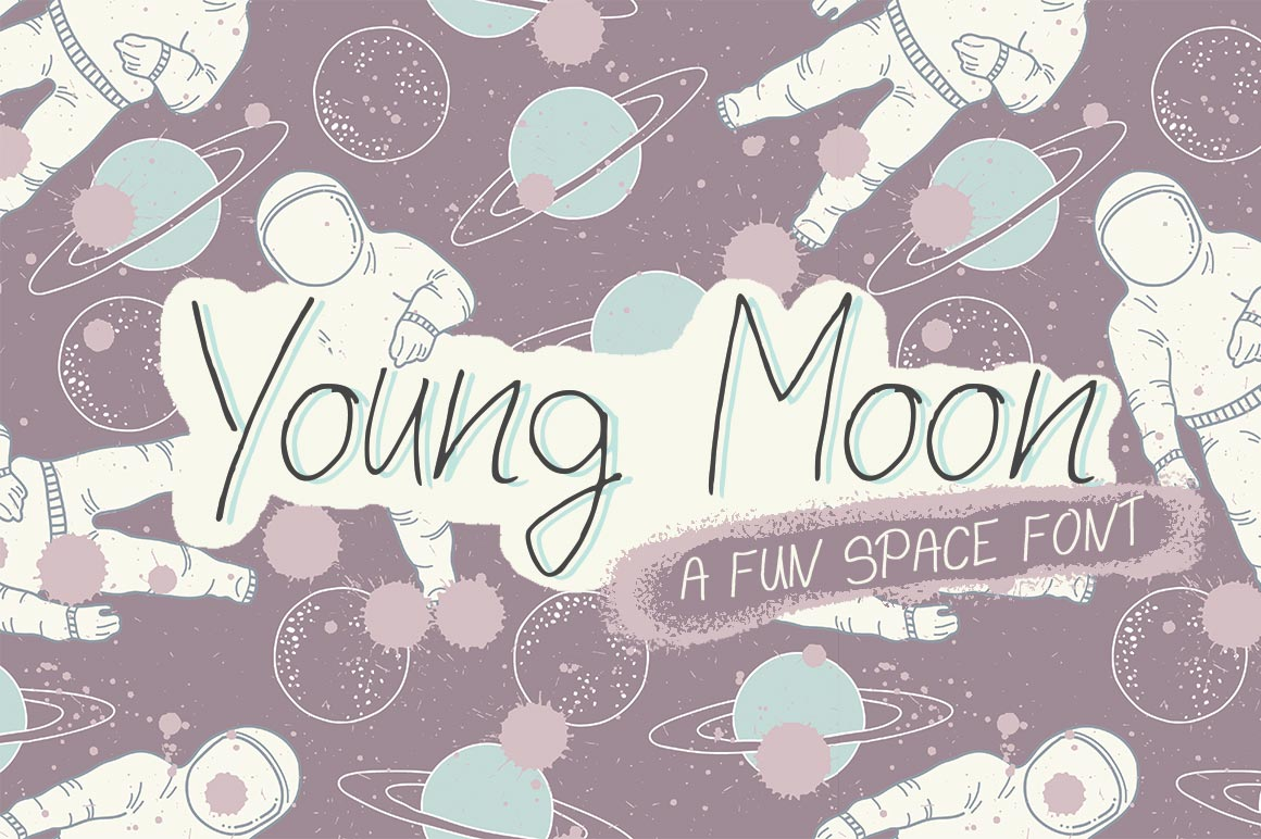 Print on Demand: Young Moon Display Font By Salt & Pepper Designs