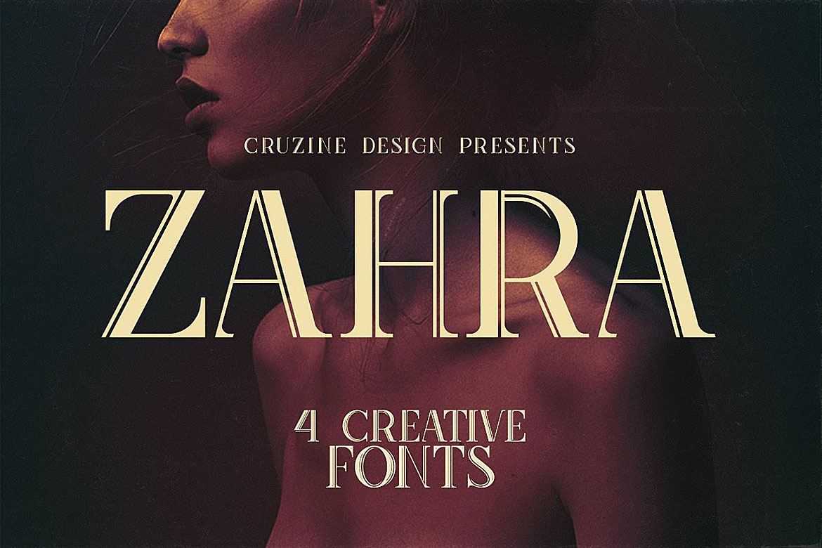 Print on Demand: Zahra Display Font By JumboDesign