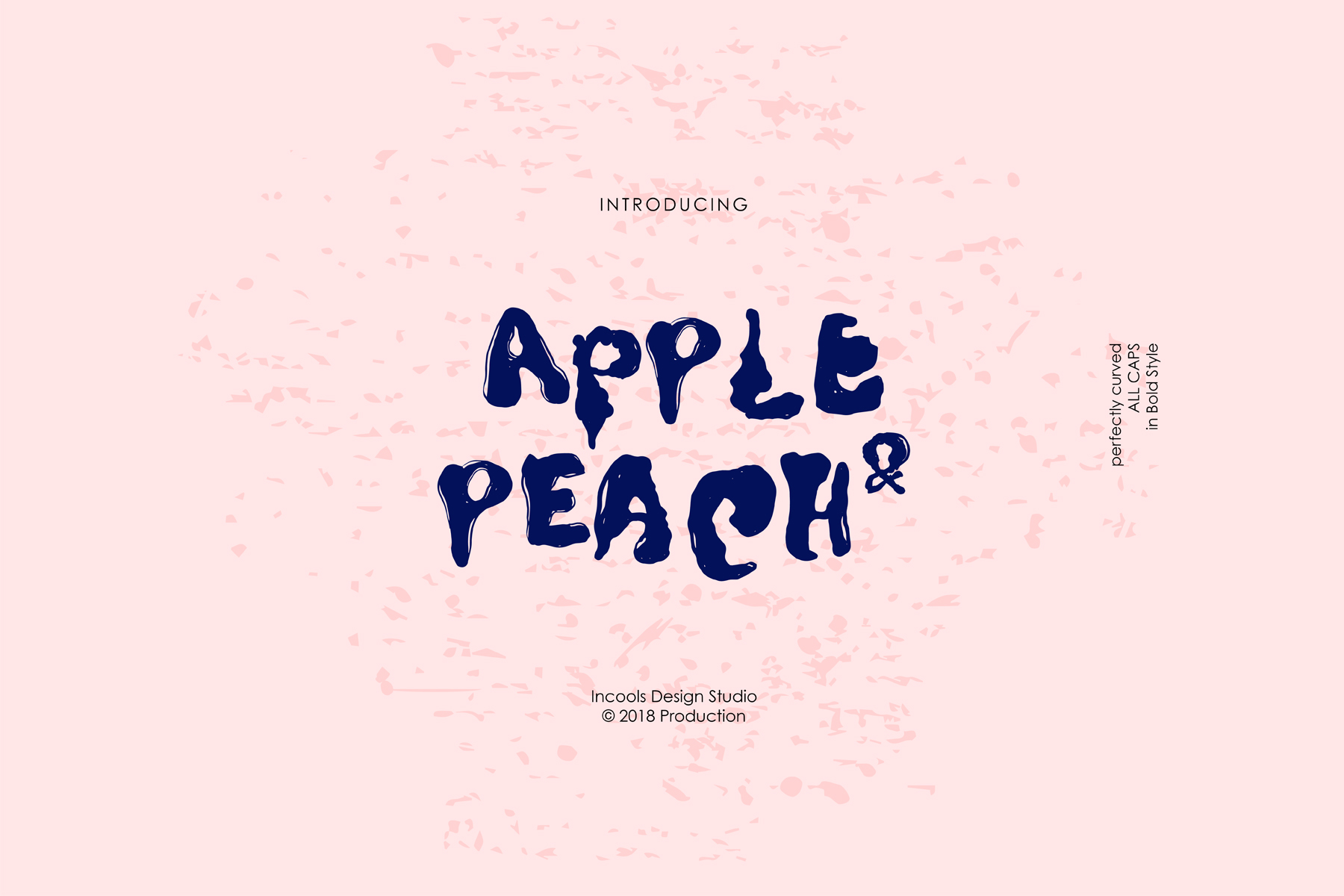 Print on Demand: Apple & Peach Display Font By Incools Design Studio