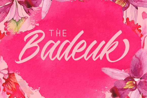 The Badeuk Script & Handwritten Font By No Gravity Type