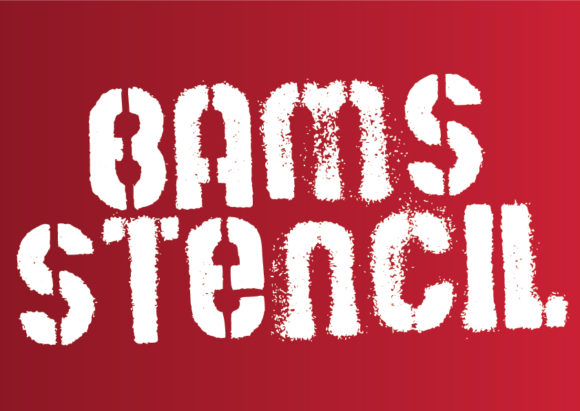 Print on Demand: Bams Stencil Display Font By GraphicsBam Fonts