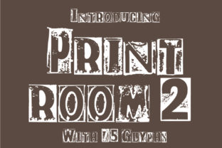Print on Demand: Print Room 2 Display Font By GraphicsBam Fonts