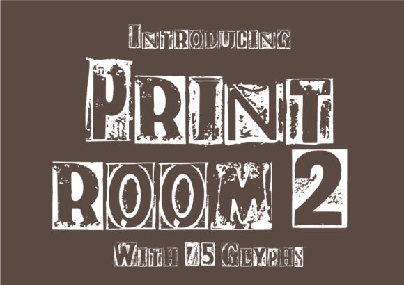 Print on Demand: Print Room 2 Display Font By GraphicsBam Fonts - Image 1