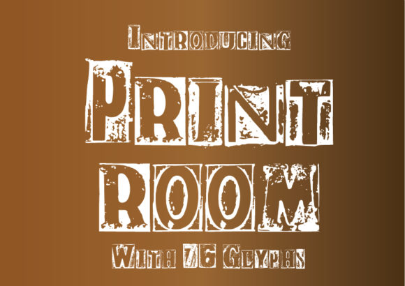 Print on Demand: Print Room Display Font By GraphicsBam Fonts