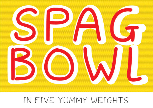 Print on Demand: Spagbowl Manuscrita Fuente Por GraphicsBam Fonts
