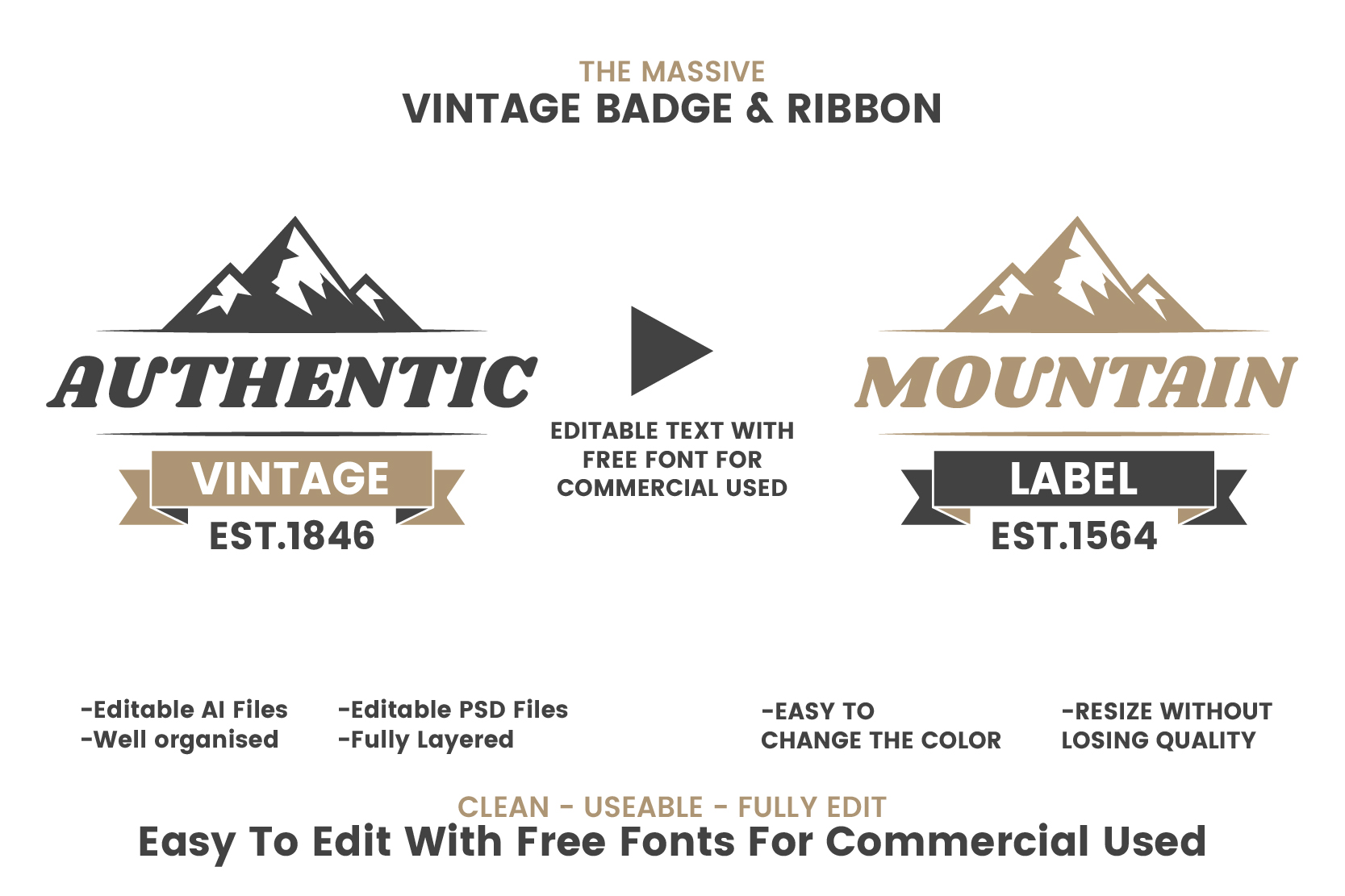 Download Free 36 Vintage Badge Ribbon Vol 3 Graphic By Toonsteb Creative for Cricut Explore, Silhouette and other cutting machines.