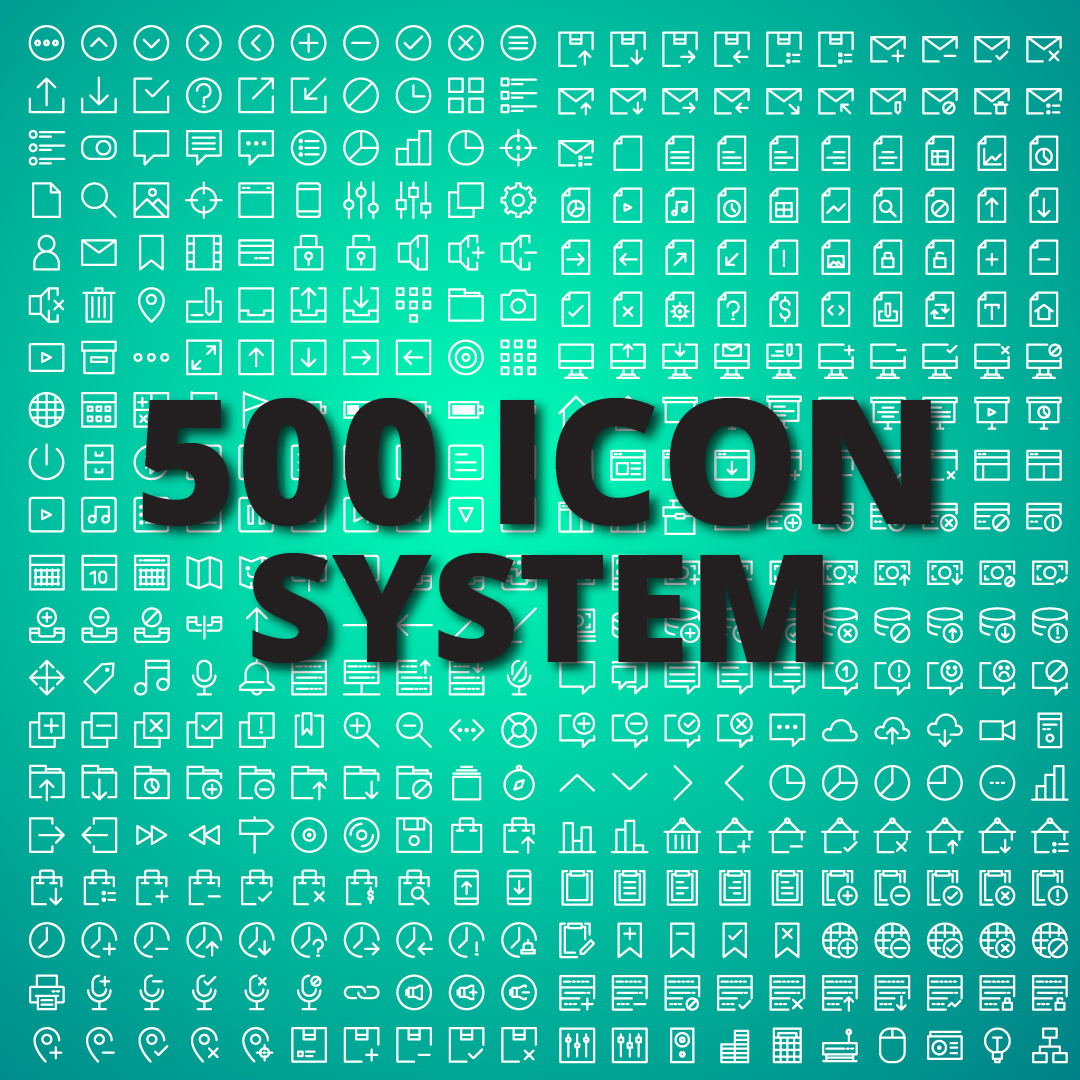 500 System Icons Graphic Icons By Asif