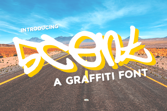 Print on Demand: 5cent Free Graffiti Font Font By Creative Fabrica Freebies