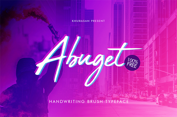 Print on Demand: Abuget Free Script Font Font By Khurasan