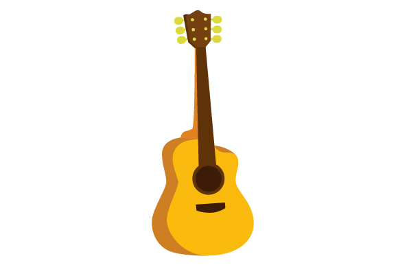 Acoustic Guitar Music Craft Cut File By Creative Fabrica Crafts