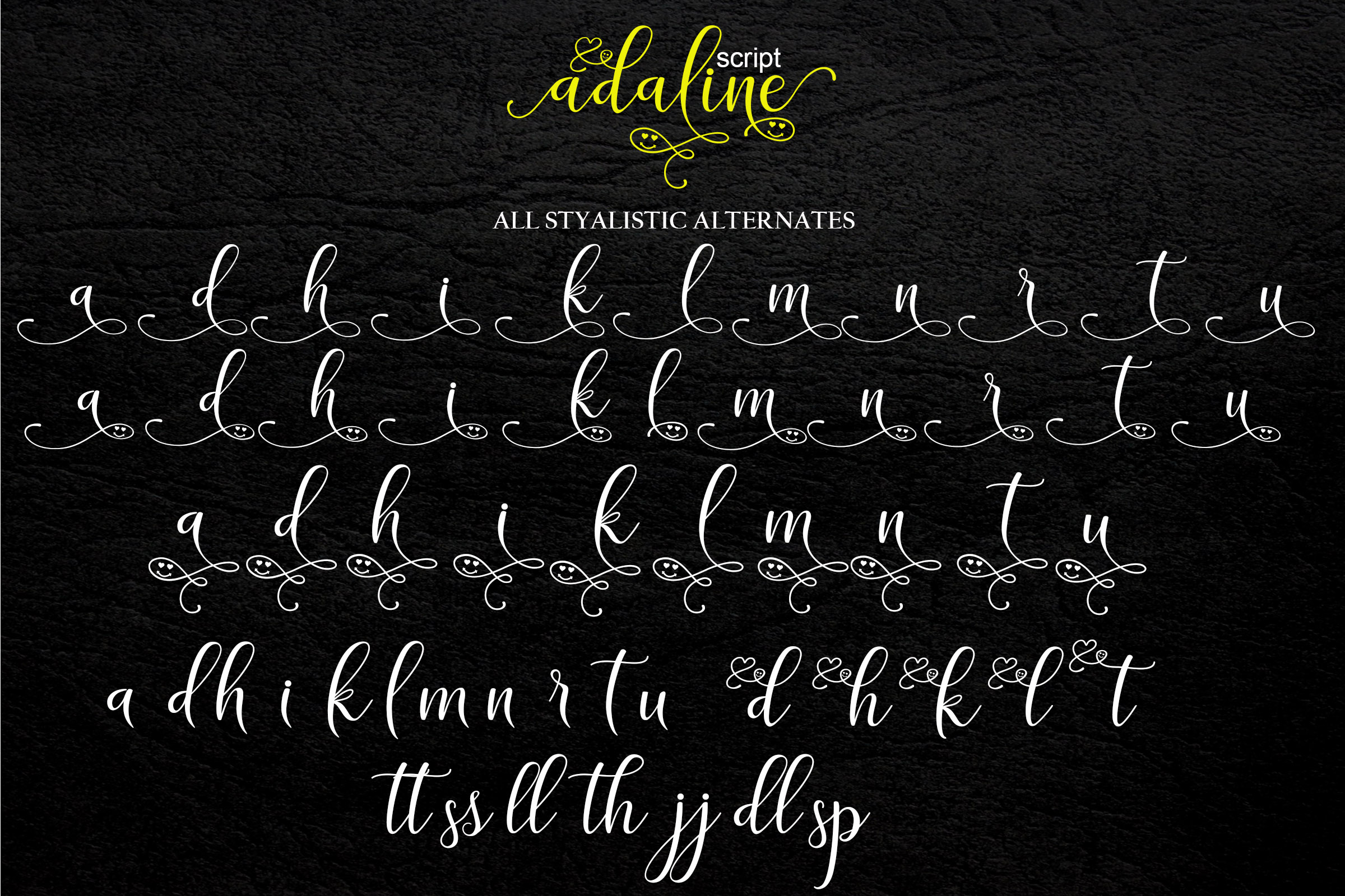 Print on Demand: Adaline Script & Handwritten Font By Mrletters - Image 11