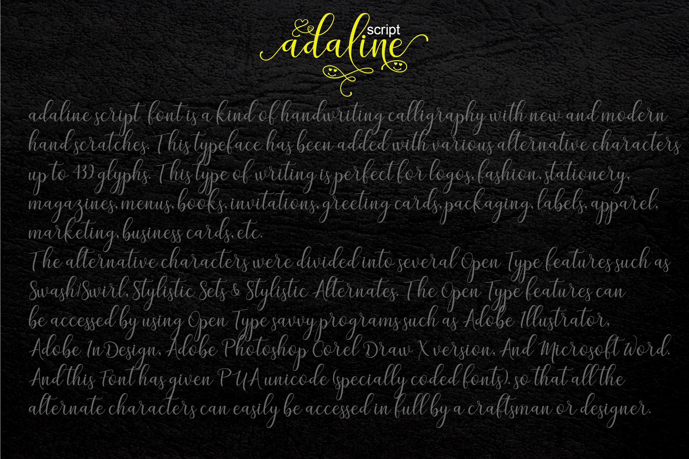 Print on Demand: Adaline Script & Handwritten Font By Mrletters - Image 12