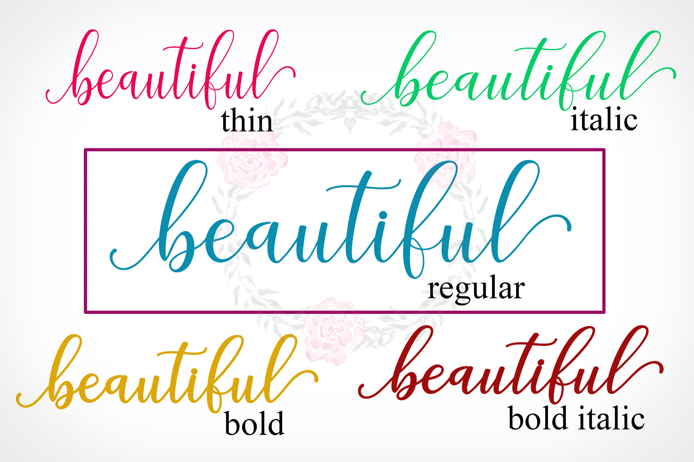 Print on Demand: Adaline Script & Handwritten Font By Mrletters - Image 8