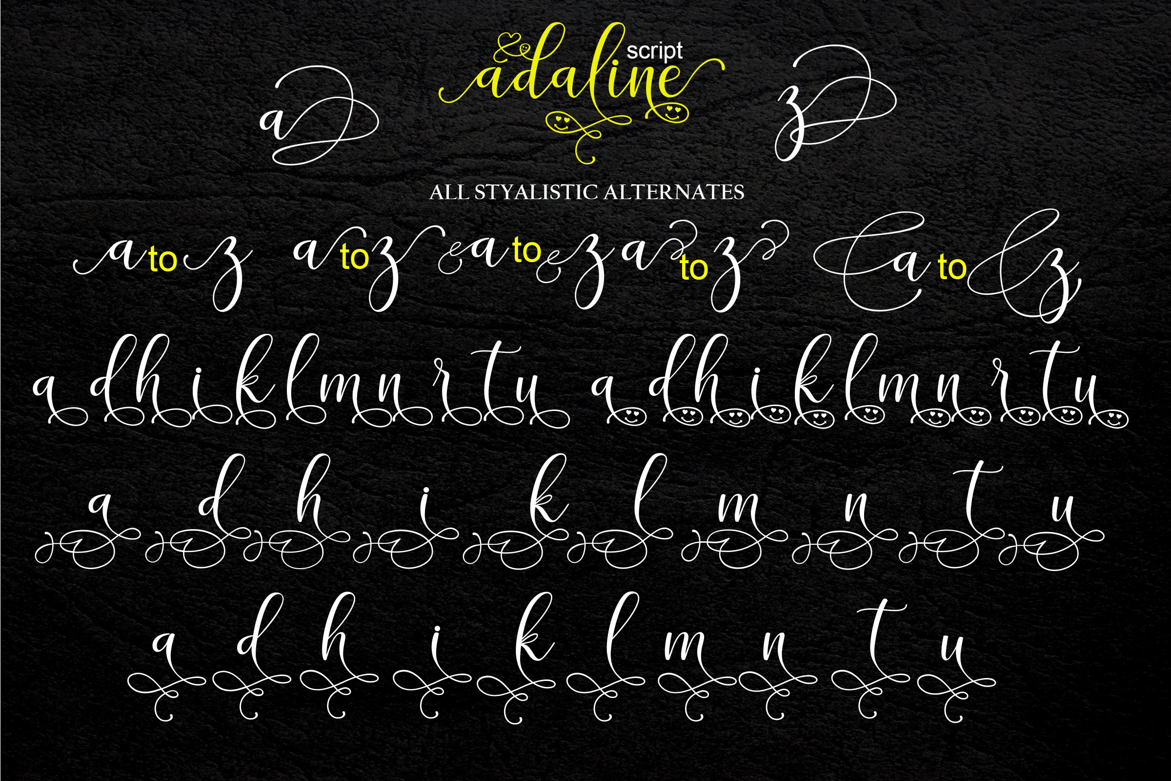 Print on Demand: Adaline Script & Handwritten Font By Mrletters - Image 10
