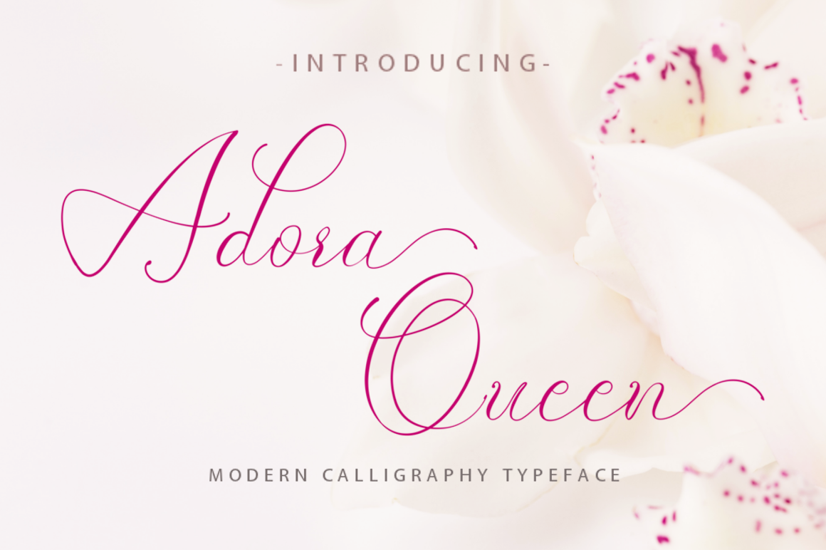 Print on Demand: Adora Queen Script & Handwritten Font By Din Studio