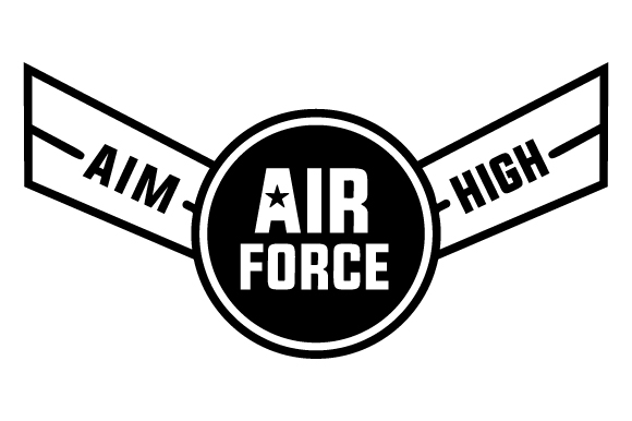 Download Free Air Force Aim High Svg Cut File By Creative Fabrica Crafts for Cricut Explore, Silhouette and other cutting machines.