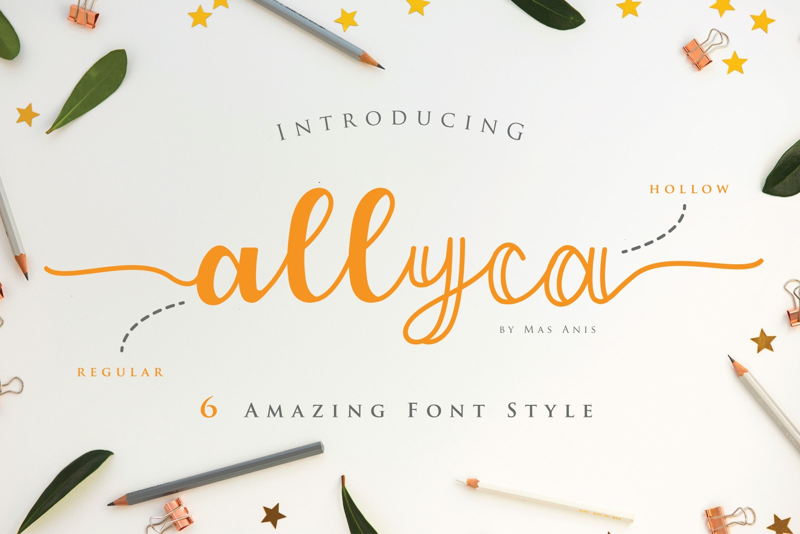 Allyca Font By Mas Anis