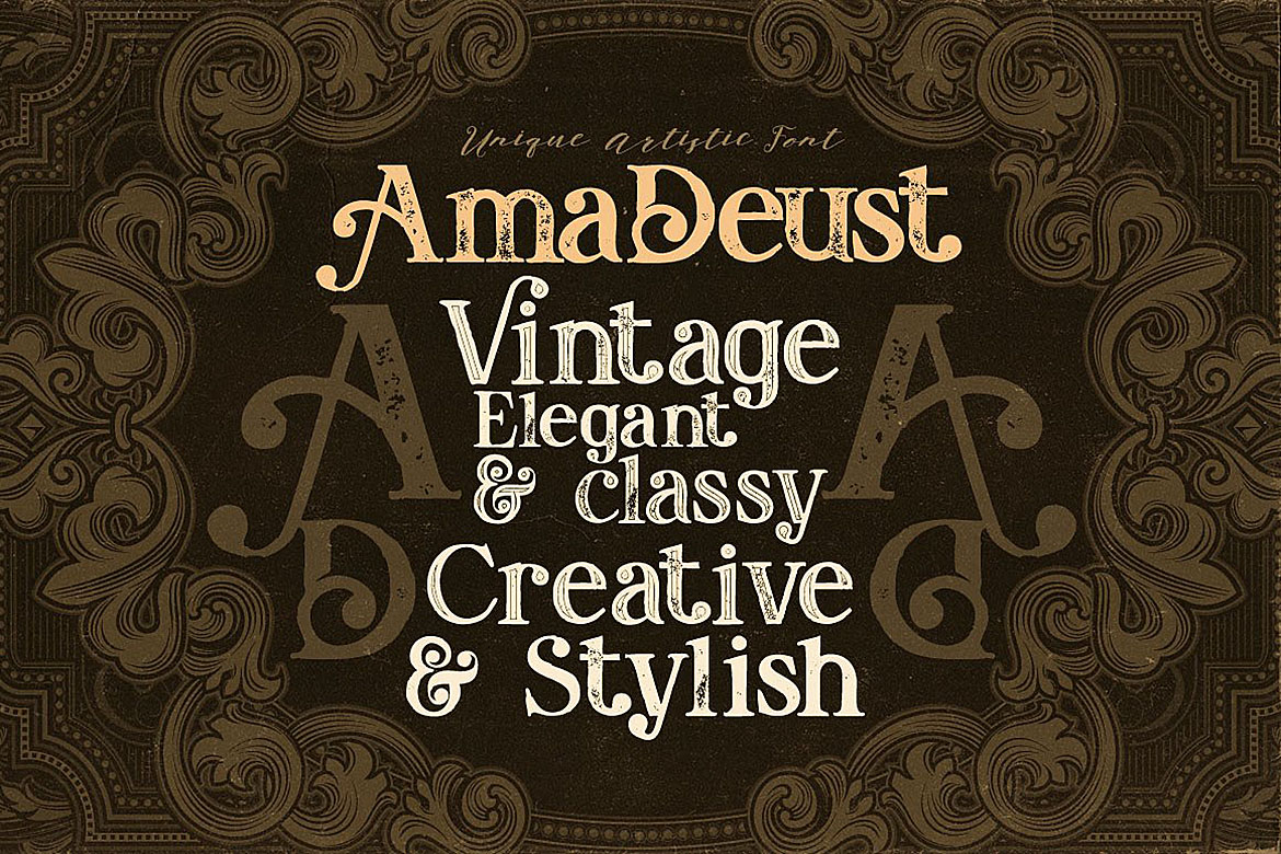 Print on Demand: AmaDeust Display Font By JumboDesign - Image 3