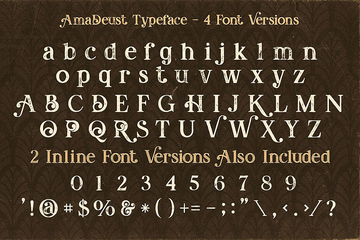 Print on Demand: AmaDeust Display Font By JumboDesign - Image 4