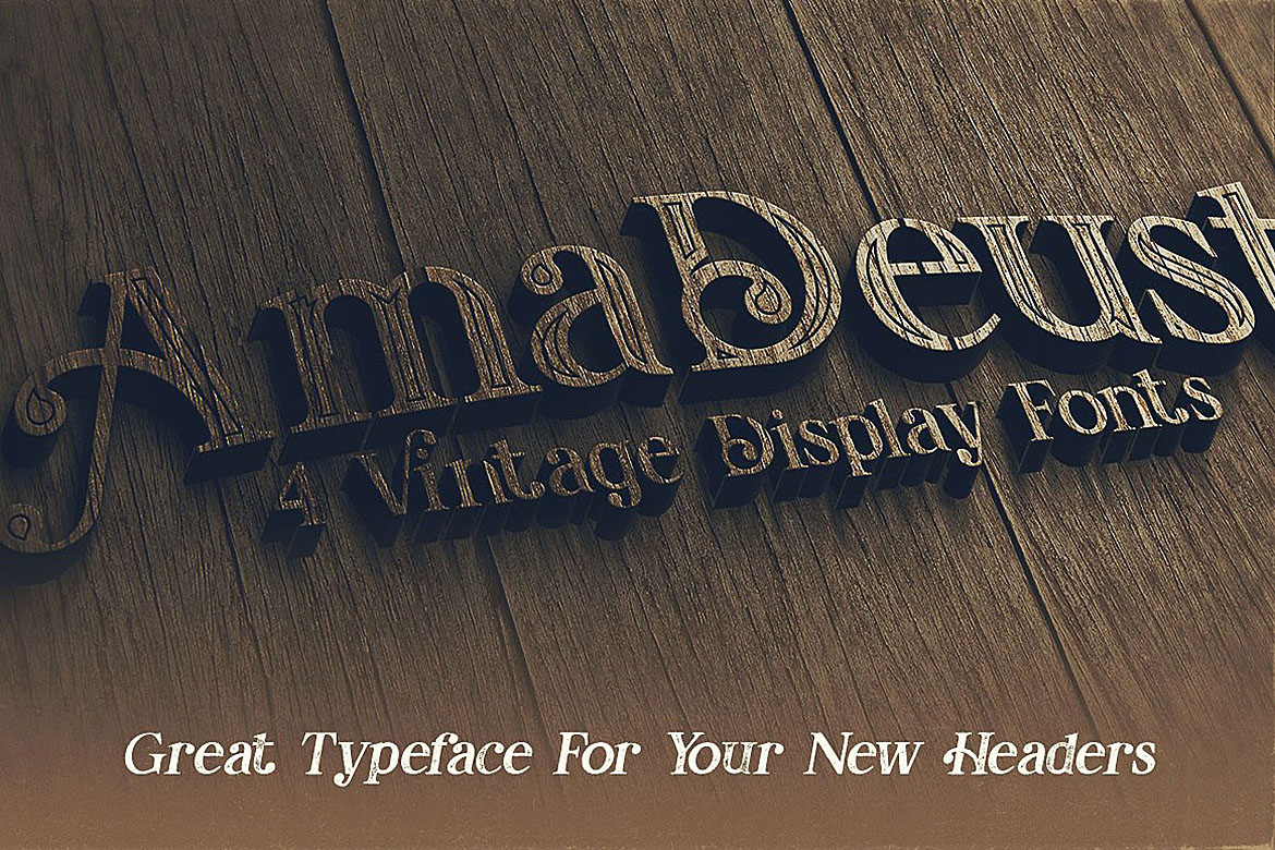 Print on Demand: AmaDeust Display Font By JumboDesign - Image 5